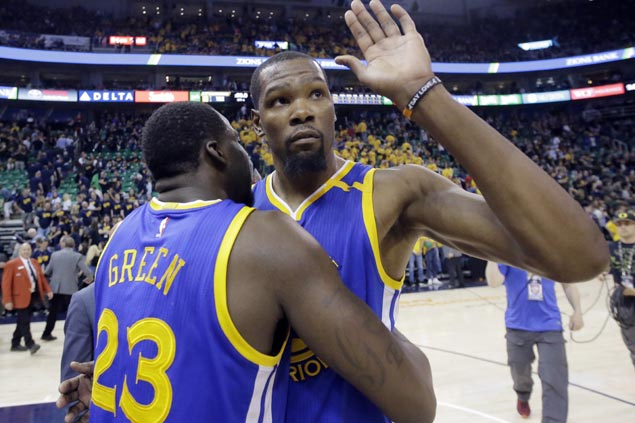 Durant, Green shrug off claim playoffs getting 'boring' owing to Warriors, Cavs dominance