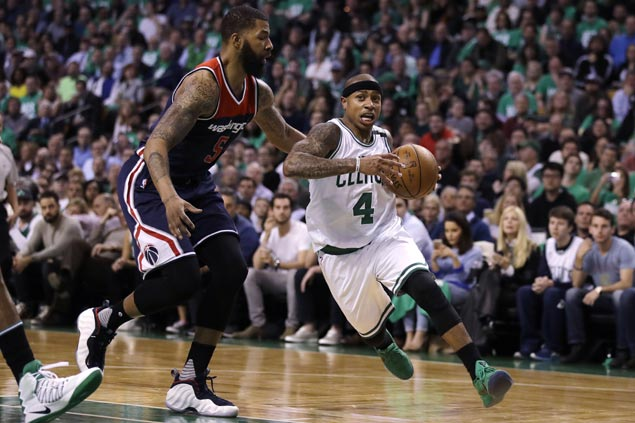 Isaiah Thomas embraces role reversal in setting up Bradley, Horford in Celtics Game 5 win vs Wizards