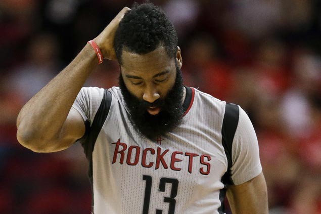 James Harden takes blame for disappearing act in Rockets ouster: 'Everything falls on my shoulders'