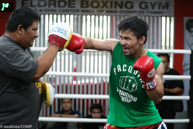 Manny Pacquiao camp confident it achieved goals in first week of training