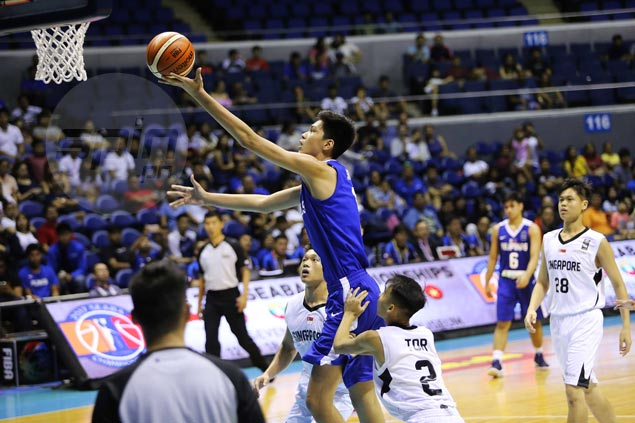 Kai Sotto shines as Batang Gilas posts 66-point victory over Singapore in Seaba U-16 opener