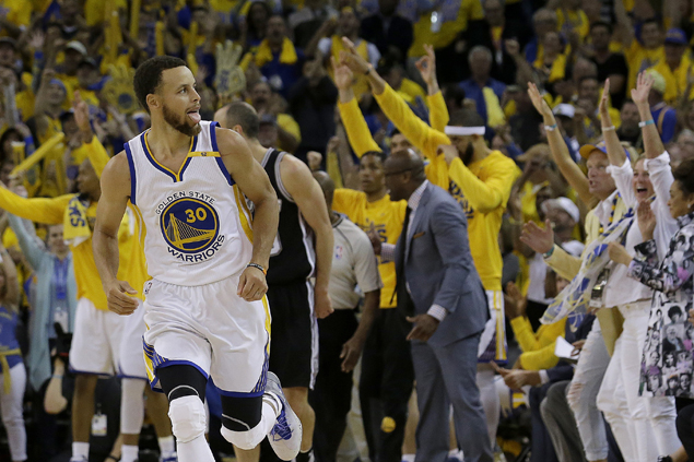 Warriors erase 25-point deficit to beat Spurs in opener of Western Conference finals as Kawhi reinjures ankle