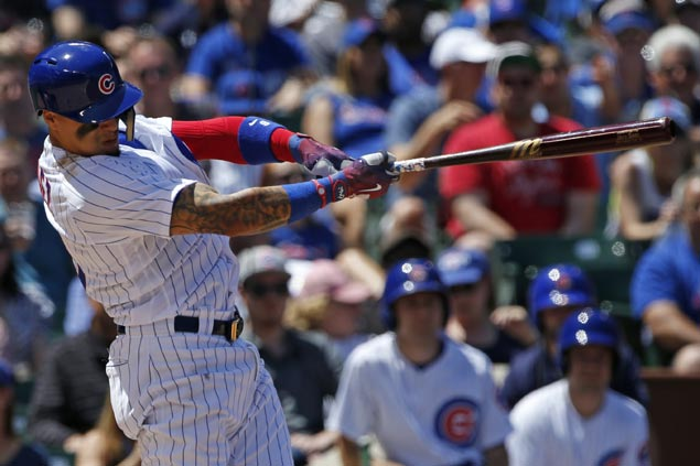 Cubs finally show top form as Javier Baez hits grand slam to cap three-game sweep over Reds