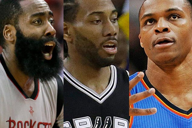 No LeBron on list as Westbrook, Harden, Leonard named finalists for NBA MVP award