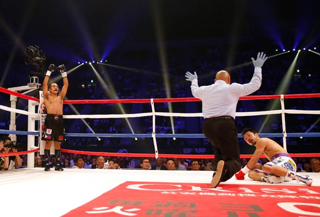 Milan Melindo a world champion at last after shock first-round TKO of Japanese foe