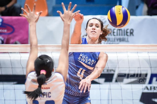 Michelle Strizak in no mood to celebrate after scoring PVL-record 40 points in Pocari loss