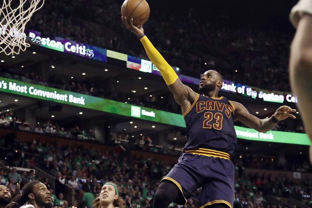 New playoffs scoring king LeBron leads Cavs over Celtics to seal third straight title duel vs Warriors