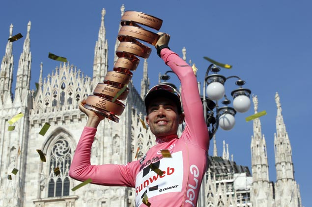 Dutchman Tom Dumoulin rides strong time trial to rule 100th edition of Giro d'Italia