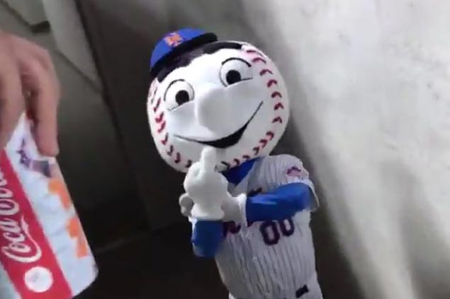 Mets issue apology, remove employee from Mr Met mascot duty after obscene gesture at fan