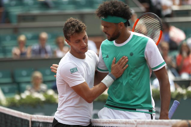 Tsonga takes blame for shock first-round exit at French Open: 'I never really found the right pace'