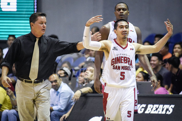 Ginebra coach Tim Cone fined P5,000 for 'peacemaker role' in Tenorio-Romeo scrap