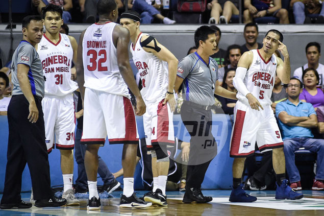 Flop? LA Tenorio insists he didn't overreact after hit from Terrence Romeo