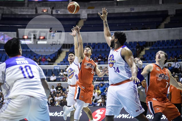 Meralco overcomes Stepheson exit, horror meltdown to drag TNT into sudden death