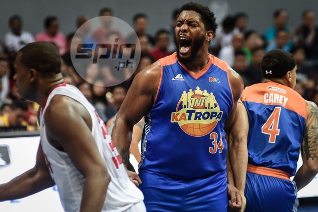 Man-mountain Joshua Smith throws weight around as TNT nips Ginebra in Game One