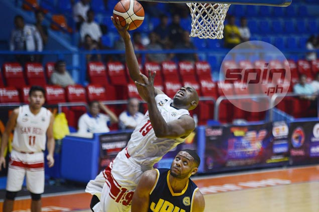 San Beda bares defensive teeth in romp over JRU to stay unbeaten in Filoil Cup