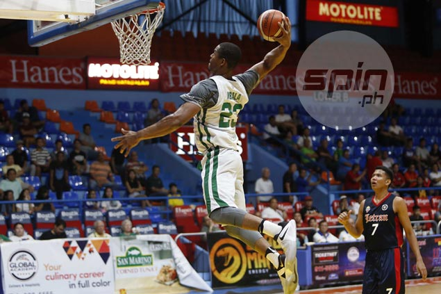 Ben Mbala's 45 points, 17 rebounds vs Letran help La Salle atone for Ateneo loss
