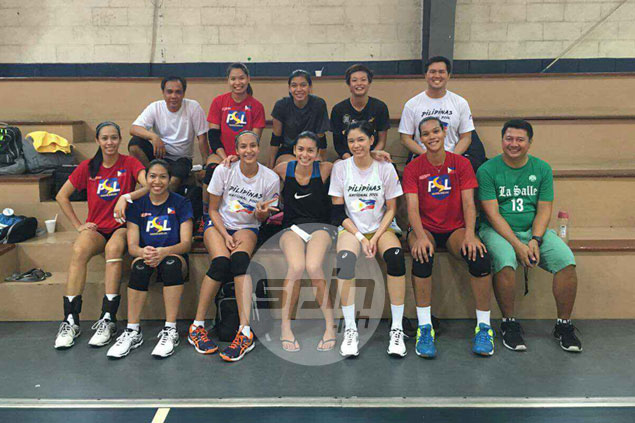 PH women's volleyball team almost in full force in first practice for SEA Games