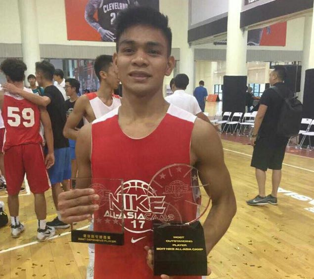 Filipino teen Ljhay Gonzales named Most Outstanding Player of Nike All-Asia Camp