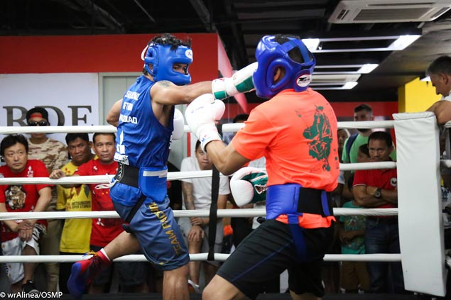 Pacquiao shows age hasn't diminished punching power by dropping Mexican sparmate