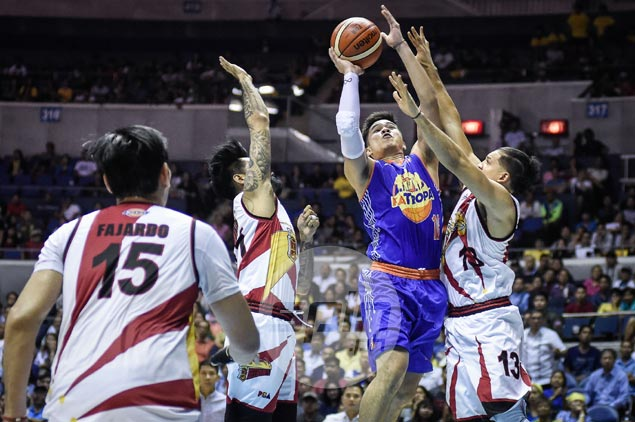 Roger Pogoy advised by veteran TNT teammates to enjoy PBA Finals debut. He did