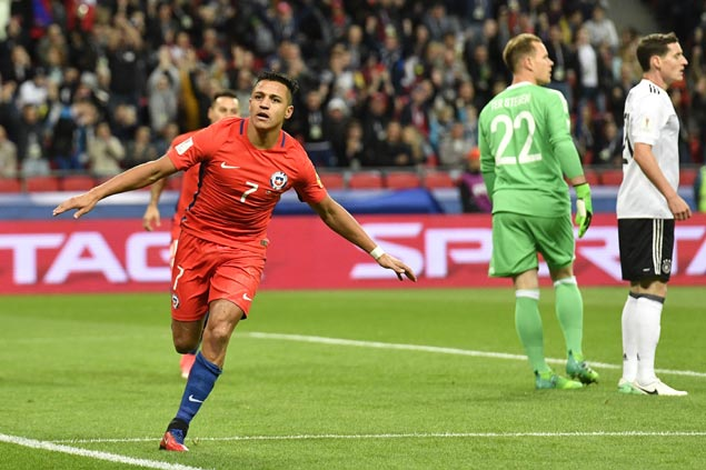 Alexis Sanchez scores early but Chile held to draw against Germany in Confederations Cup