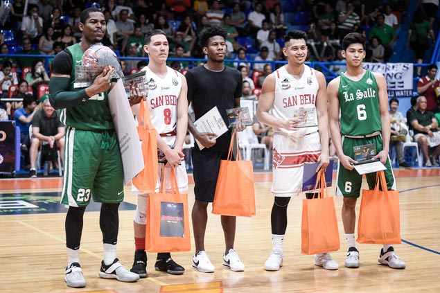 MVP Ben Mbala joined by Perez, Bolick, Mocon, Rivero in Filoil Cup Mythical Five