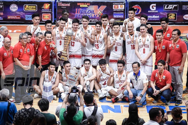Fernandez admits pressure on deep, intact San Beda greater after Filoil Cup conquest