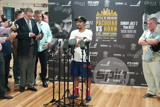 Manny Pacquiao vows to give former school teacher Jeff Horn a neat boxing lesson