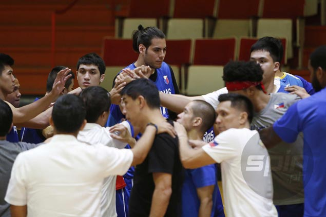 Christian Standhardinger stands tall in first practice with SEAG-bound Gilas team