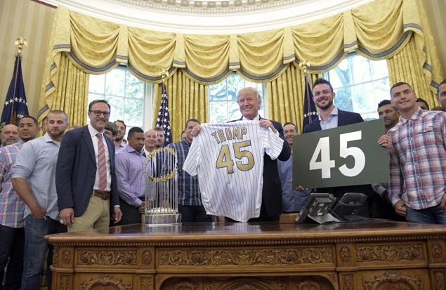 Cubs see Donald Trump in second White House trip since World Series