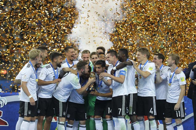 Young German squad downs Chile in bruising Confederations Cup final