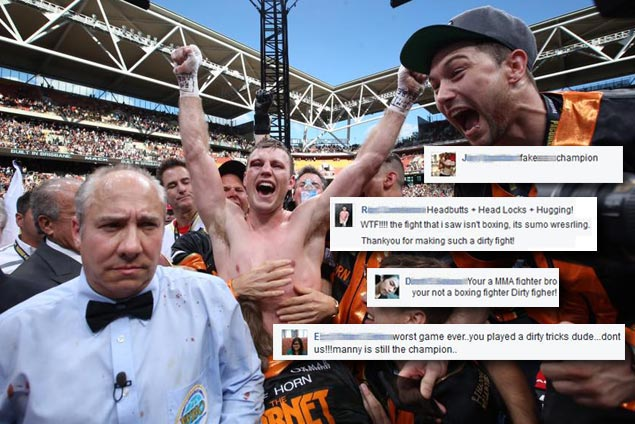 Horn, wife take 'below the belt' hits on social media amid fury over decision win over Pacquiao