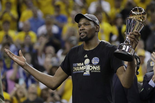 Kevin Durant staying with Warriors on US$53 million two-year deal, says source