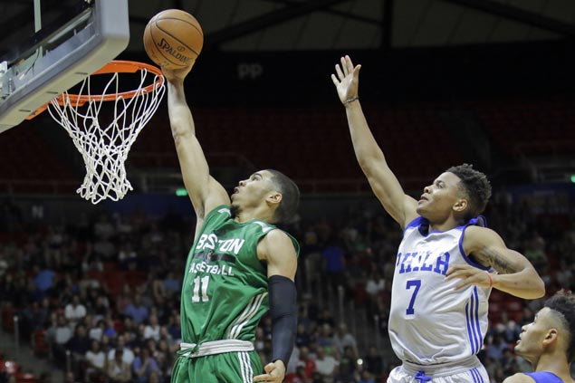 Jayson Tatum nails game-winner as Celtics deny top pick Fultz, Sixers in Summer League debut