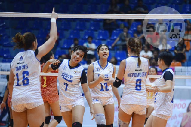 Myla Pablo shows bigger heart behind big game in taking over late rally for streaking Pocari