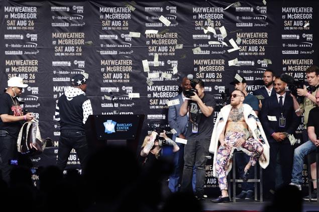 Wild press tour levels up as verbal jabs, stunts intensify between Mayweather, McGregor