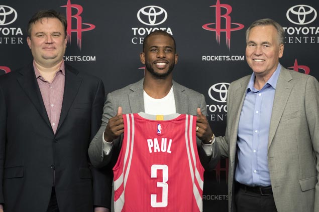 Paul rejuvenated in joining Harden, Rockets: 'I haven't been this excited about basketball in a while'