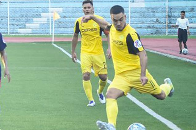 Iain Ramsay hat trick leads Ceres Negros' seven-goal romp over PFL leader Meralco Manila