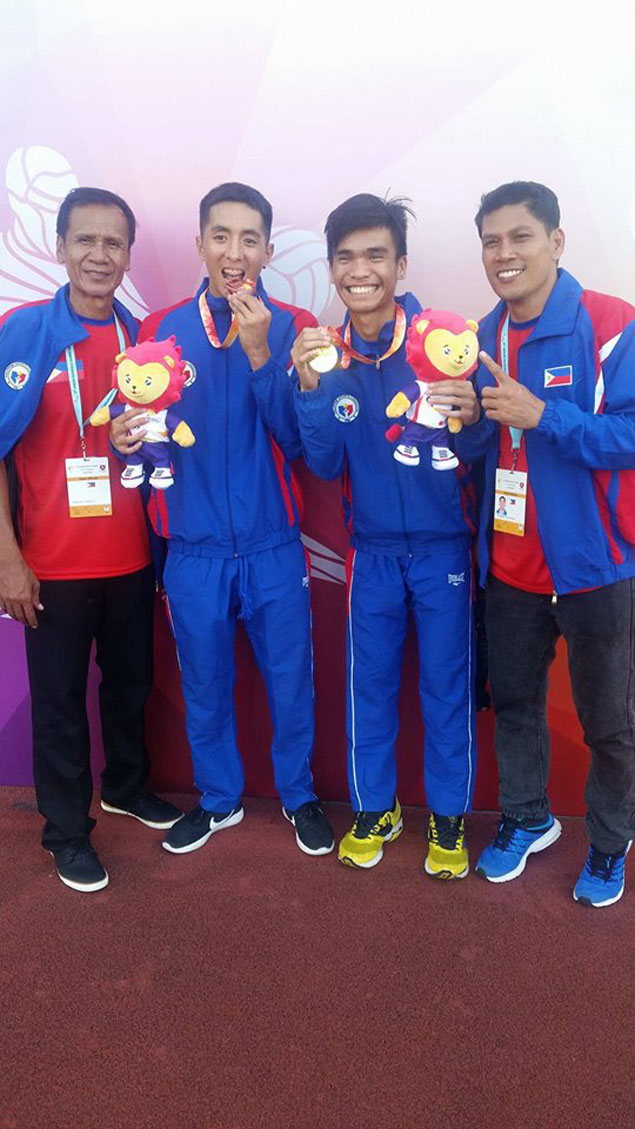 Cager turned trackster John Marvin Rafols delivers after winning triple jump gold in ASEAN School Games