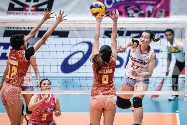 Pau Soriano, Rosemarie Vargas star as Valdez-less Creamline rips Power Smashers to gain semis