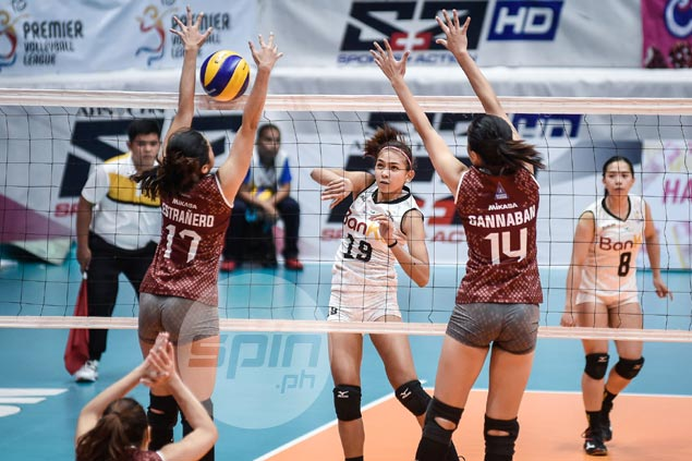 Former UP stars Tiamzon, Bersola lead Perlas past Lady Maroons to keep PVL Open semis hopes alive