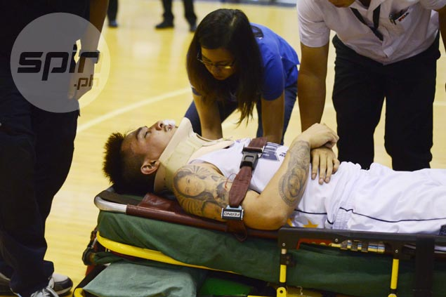 Michael Vincent Juico's gutsy return after collision not enough to save day for Wangs Couriers