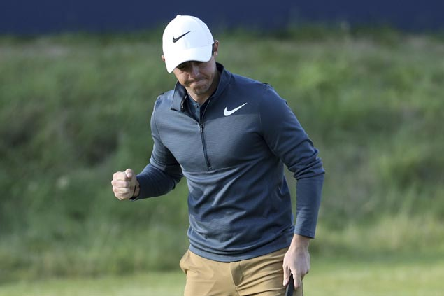 Fighting words from caddie spark Rory McIlroy back from horror start at British Open