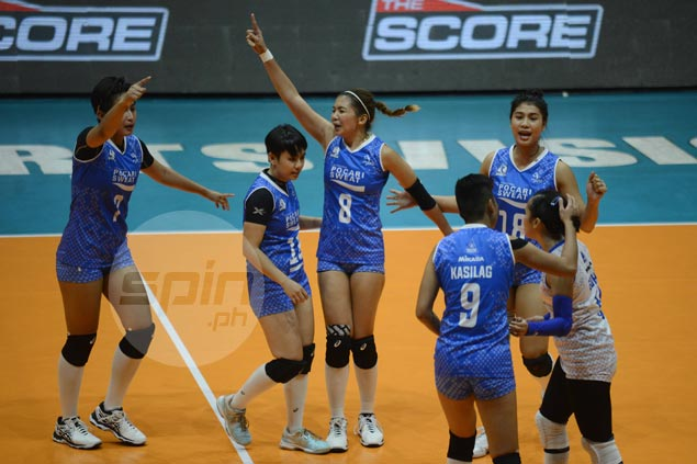 Pocari Sweat closes in on semifinals with straight-sets win over Adamson University