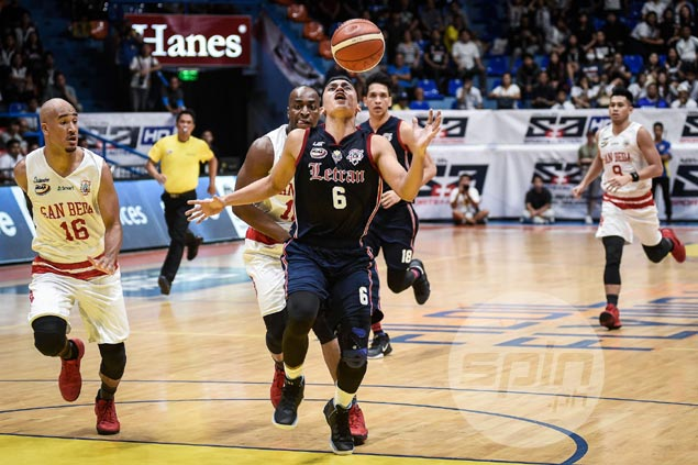 Rey Nambatac seeks help as shallow Letran bench exposed anew in loss to San Beda