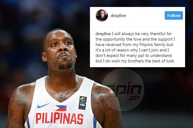 Apologetic Andray Blatche still offers no clear explanation for not joining Gilas in Fiba Asia Cup