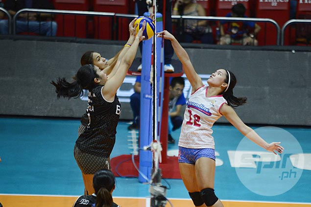 Creamline fights back from a set down to beat Perlas and complete seven-match sweep of elims