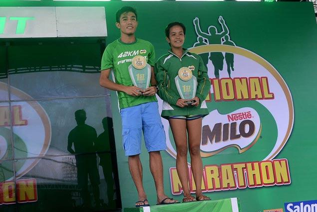 Rafael Pescos, Cinderella Lorenzo dominate Milo Marathon Metro Manila eliminations