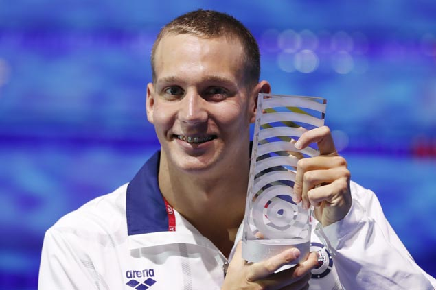 Caeleb Dressel matches Michael Phelps record seven gold medals at world championships