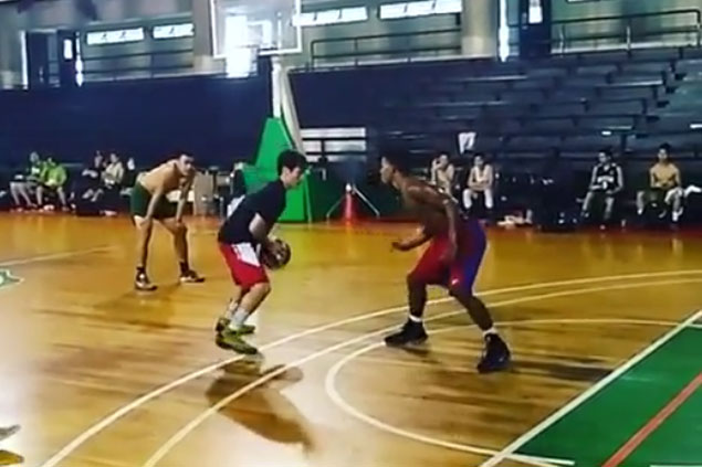 Coach TY Tang schools CSB players in one-on-one games 'to lighten mood in practice'